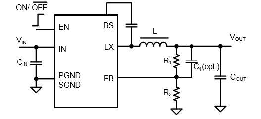 同时尽量减少外部电感器和电容器的大小,从而达到最小的解决方案足迹.