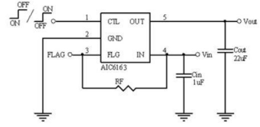 AIC6163IGV5TR's Typical Application