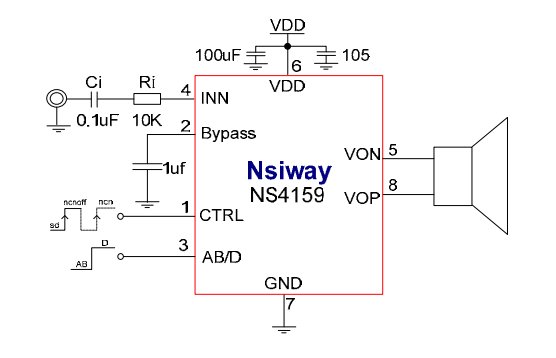 NS4159 Typical Application