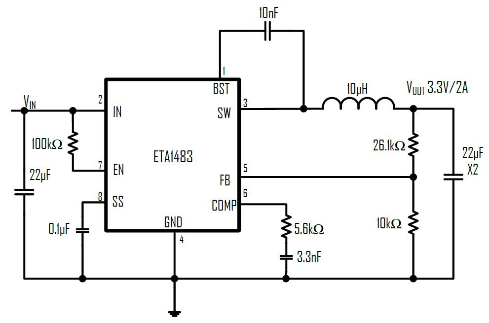 ETA1483S8A-T's Typical Application Circuit