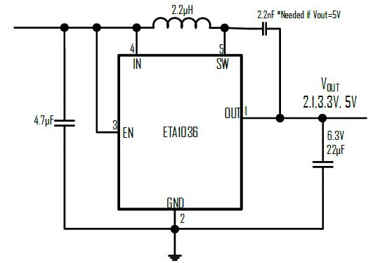 ETA1036's Typical Application Circuit