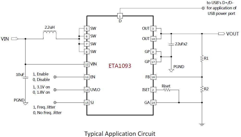 ETA1093Q3Q's Typical Application Circuit
