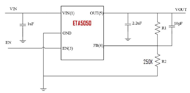 ETA5050S2F's Typical Application Circuit